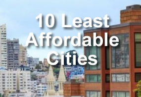 10 least affordable cities